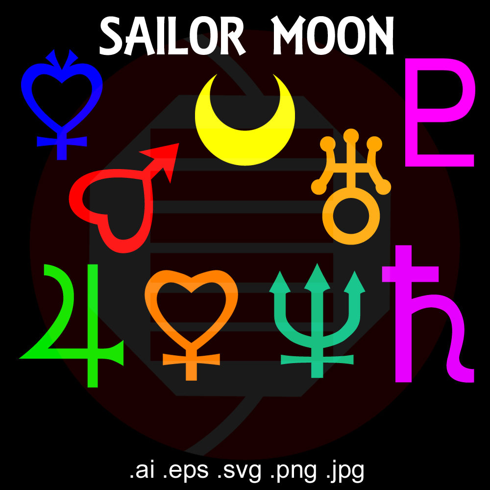 Sailor moon symbols svg anime printable decal decor clipart zoom biocorpaavc Gallery