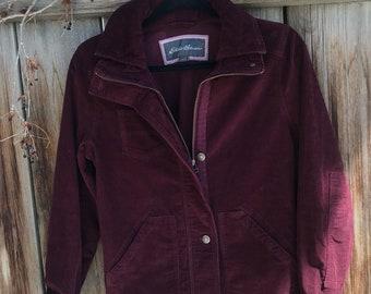 Eddie Bauer burgundy vintage Jacket / size Small