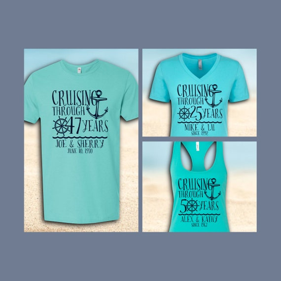 Custom Anniversary Cruise Shirts