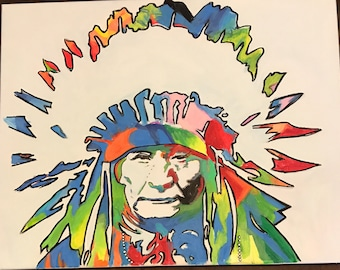 Native American chief tie dye