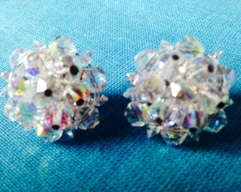 Vintage Earrings Bridal sparkly from the 50's wedding bridesmaids gifts Vintage Jewelry SPARKLY JEWELRY ESTATE Crystals