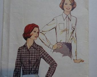 Vintage Style 4343 Shirt Pattern Size 14 Bust 36
