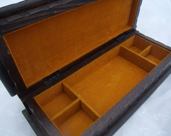 Orange jewelry box Etsy