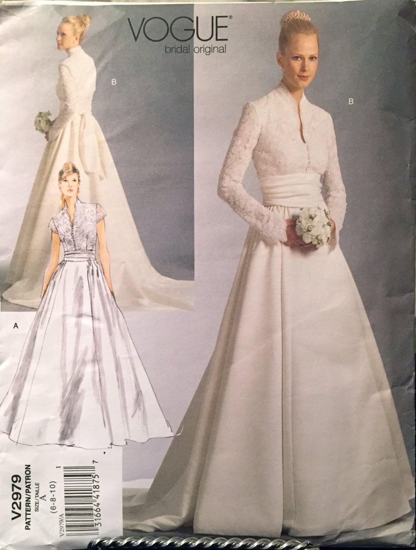 Vogue Bridal Original Wedding Gown Pattern Lace Bodice,Reminiscent ...