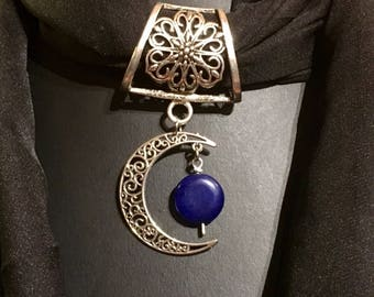 Scarf Moonstone and Lapis jewelry