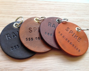 Pet ID Tag, Dog ID Tag, custom dog tags, Dog Tag for Collar, Funny Dog Tag, Personalized Dog Tag, Leather Dog Tags, luggage tags