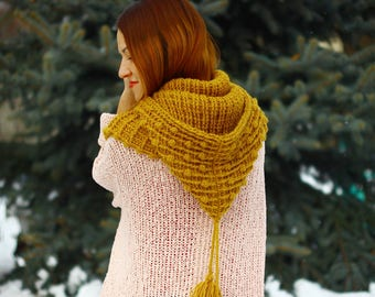 CROCHET PATTERN, Crochet pattern hooded cowl (12\18; Toddler; Child; Adult sizes) crochet cowl - crochet hood pattern, hooded cowl pattern