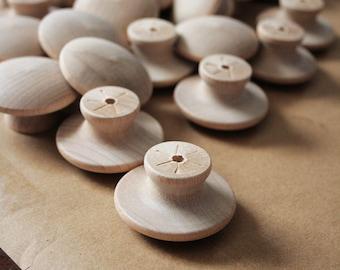 DIY bouleau fin Grain en bois boutons 1-3/4 pouce lot de 6