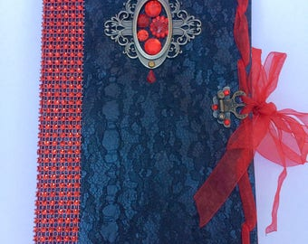 Gothic Journal / diary / vintage / notebook / Victorian / Steampunk / antique / scrapbook / junk journal / vampire goth handmade mediaval