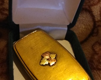Black Hills 12k Gold leafed GF money clip
