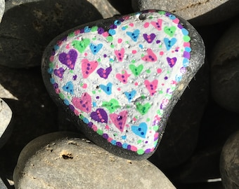 Valentine's Day Heart Painted Rock!