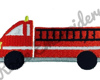 Fire Truck Embroidery Design Instant Download Digital Pattern - RE12