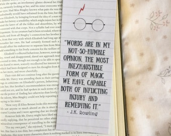 Harry Potter Glasses Quote Bookmark