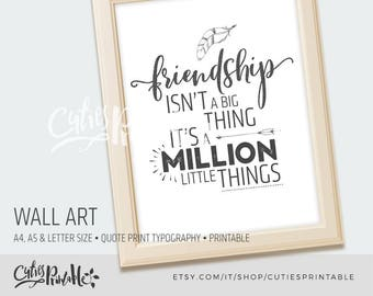 Wall art • quote print • typography printable• art office • decor office • print printable • poster ar