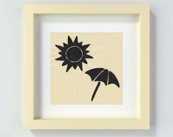 Printable Beach Art, Instant Download Beach Print, Coastal Wall Art, Beach Wall Art, Beach Painting Print, Nursery Beach Art, Child's Room