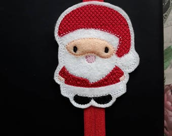 Happy Santa Father Christmas Planner Band. Planner Gifts.  Stationery.  Bookmark.  Page Marker.