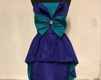 Purple Teal Dress