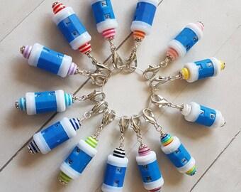 Beaded Row Counter -Removable Progress Keeper -Stitch Marker -Crochet -Knit -Row Tracker -Wristlet Accessory
