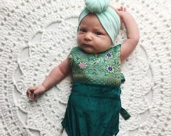 Preemie baby Velvet romper, Vintage Style Baby clothing, Hippie baby, Shower gift, Bohemian Baby clothing, kids clothing, Newborn Photo prop