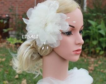 Ivory Flowers Wedding Hair Pins , Bridal Hair Pins, Bridesmaid Hair pins, Ivory Wedding Hair Accessories, white ivory hair flower