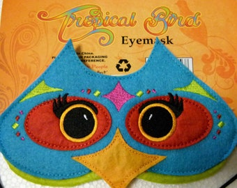 Novelty Tropical Bird Eye Mask Sleep Mask Blindfold Ideal Holdiay Travel or By Bedside