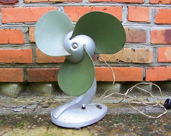 Authentic Soviet Fan. Vintage Industrial Fan. Electric Metal mid century ventilator. USSR. Home Photo Decor. Working condition