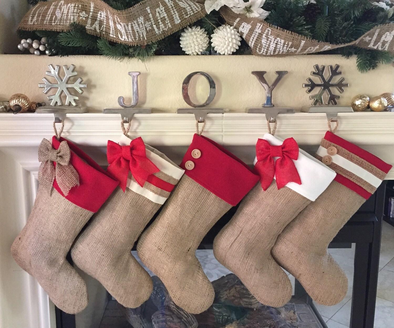 Lovely Burlap Stockings Part - 2: ?zoom