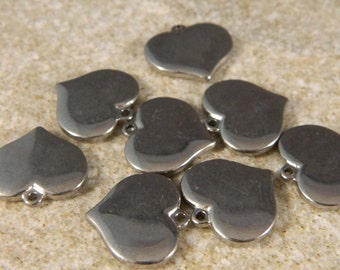 Small Stainless Steel Heart Charms
