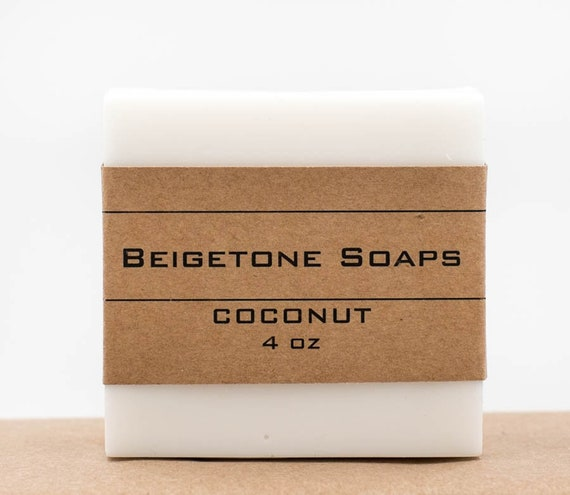 NEW - COCONUT Soap Bar | 4oz | Stunning White | SUMMER Fun All Year Long!