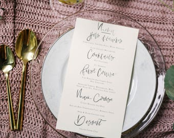 Hand Lettered Brush Calligraphy Menu