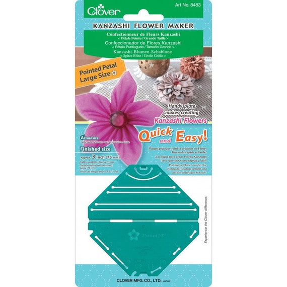 Clover Large Pointed Kanzashi Flower Maker Template Fabric