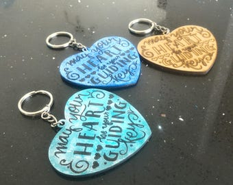 "KeyChain Kingdom Hearts-""May your Heart be your guiding key"""