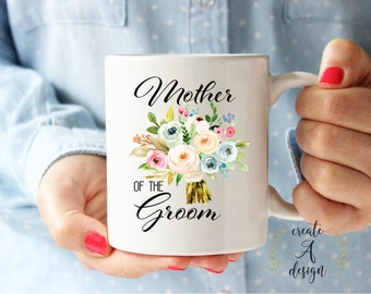 Mother of the Groom Mug - Bridal Party Gifts, Bridal Shower Gift, Mom Wedding Gift, Gifts for Her, Wedding Gift for Mom, m-20