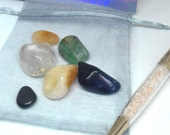 Student Gift ~ Crystal Set ~ Student Teacher Gift ~ College Student Gift ~ Stress Relief Stones ~ Stress Relief Gift ~ Confidence Gift