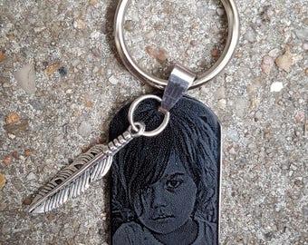 Porte clé avec gravure personnalisée