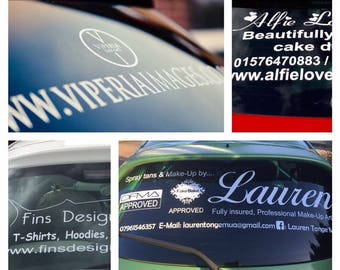 Personalised Car Window Vinyl Decal Business Advertising