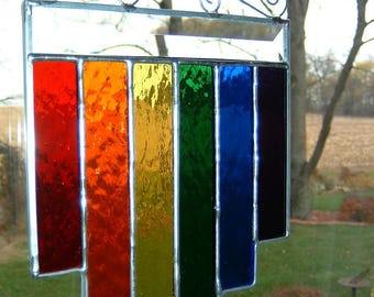 Stained Glass Rainbow Multi Length Suncatcher