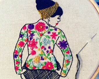 EMBROIDERY KIT The Spring Tattooed Lady