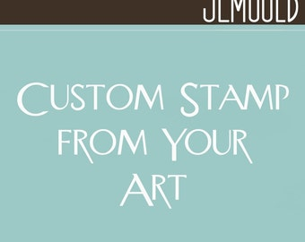 Sale Custom Handmade Clear Mounted Rubber Stamp for YOU 1.5x1.5 Size