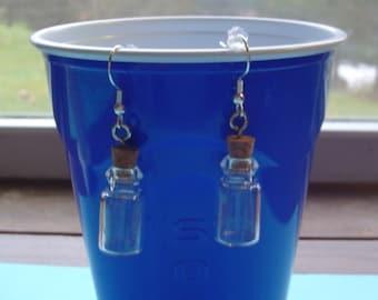 Tiny Glass Jars Pierced Earrings
