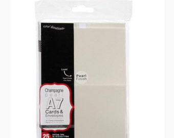 Core'dinations Champagne Pearl A7 Cards and Envelopes