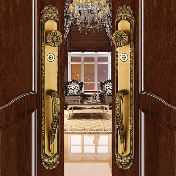 K8338# Luxurious Mortise Entry Entrance Front Door Handle Lock Sets Zinc  Alloy From Amoylimai On Etsy Studio