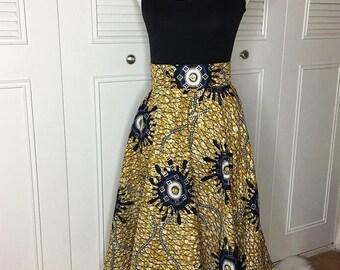 Wakanda Royalty Circle Skirt With Pockets
