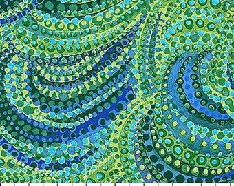 Green Swirls Water Garden Artisan Spirit Northcott Fabric