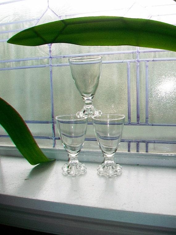 3 Berwick Boopie Juice Glasses Vintage Anchor Hocking 1950s