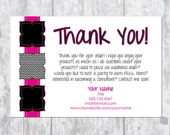 Direct Sales Thank You/ Bag Tag