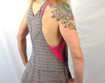 Vintage 90s Overall Plaid Shorts