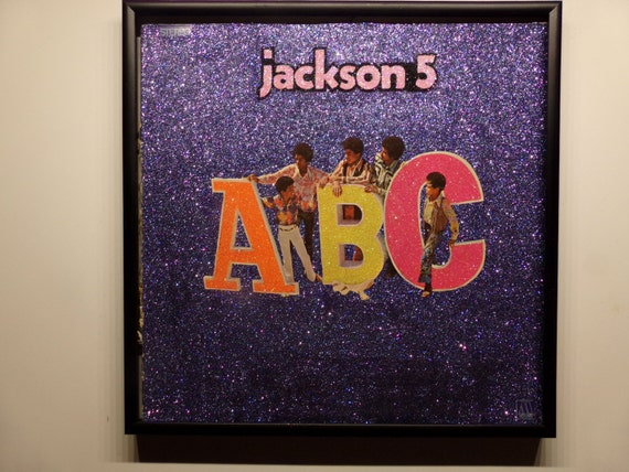 Glittered Record Album - Jackson 5 - ABC
