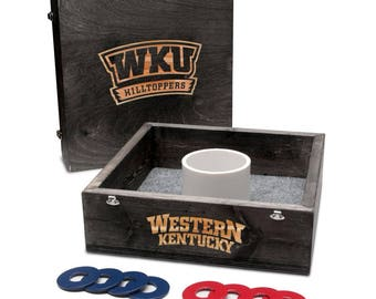 Western Kentucky University Hilltoppers WKU Washer Game Set Onyx Stained