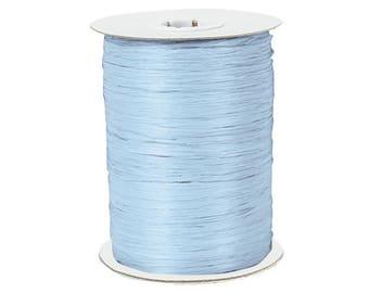 Blue , Paper Raffia Ribbon 100Yd , Raffia Ribbon - Wraphia